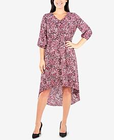 Petite Printed High-Low Dress