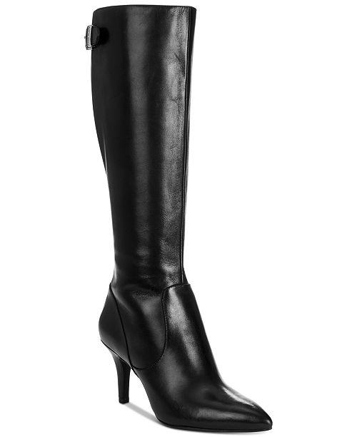 456ecb631a1b Anne Klein Fliss Wide-Calf Boots   Reviews - Boots - Shoes - Macy s