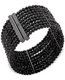 Lauren Ralph Lauren Hematite-Tone Jet Multi-Row Cuff Bracelet
