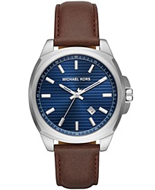 Men's Bryson Brown Leather Strap Watch 42mm
