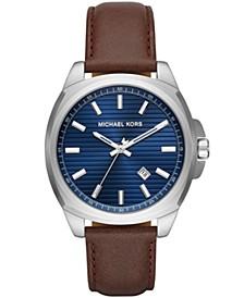 Men's Bryson Brown Leather Strap Watch 42mm