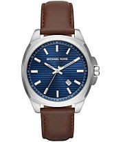 Michael Kors Men s Bryson Brown Leather Strap Watch 42mm fa8118865ca47