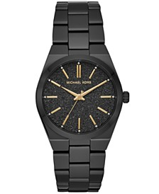 Michael Kors Women's Channing Black Stainless Steel Bracelet Watch 36mm
