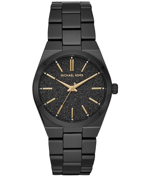 Michael Kors Women's Channing Black Stainless Steel Bracelet Watch 36mm