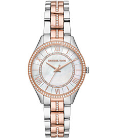 Michael Kors Women's Lauryn Two-Tone Stainless Steel Bracelet Watch 33mm