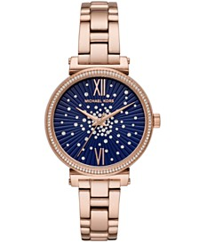 Michael Kors Women's Sofie Rose Gold-Tone Stainless Steel Bracelet Watch 36mm