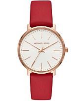 bbc8e908852c Michael Kors Women's Pyper Red Leather Strap Watch 38mm