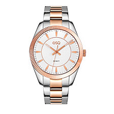 Men's ESQ0155 Two-Tone Stainless Steel Bracelet Watch, Crystal Accent Dial
