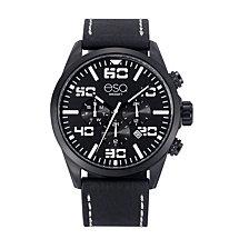 Men's ESQ0021 Multi-Function Black IP Stainless Steel Watch, Black Dial