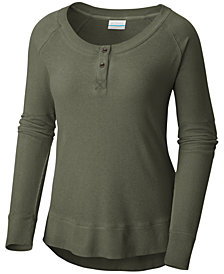Columbia Fall Pine Cotton Henley Top