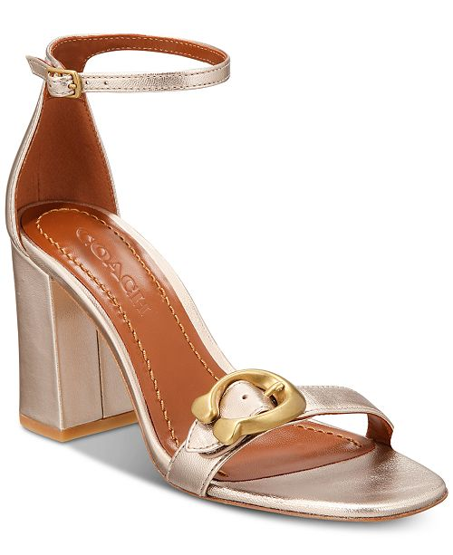 f386bd057 COACH Maya Signature Buckle Dress Sandals   Reviews - Sandals ...