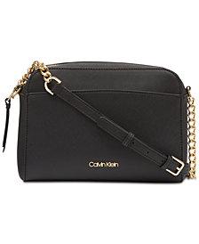 Calvin Klein Hayden Saffiano Leather Crossbody