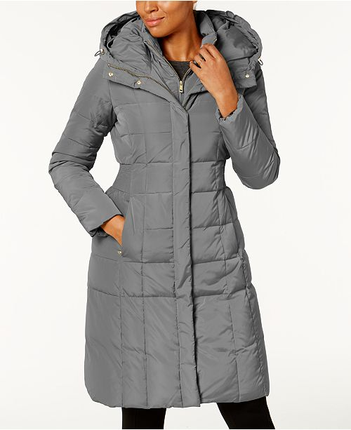 1524fd09ac2 Cole Haan Layered Down Puffer Coat   Reviews - Coats - Women - Macy s