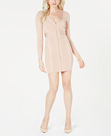 GUESS Mirage Zip-Front Bandage Dress