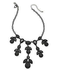 "Thalia Sodi Hematite-Tone Stone Statement Necklace, 16"" + 3"" extender, Created for Macy's"