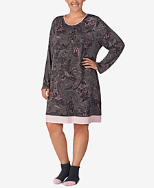 Ellen Tracy Plus Size Printed Sleepshirt