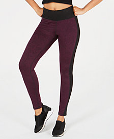 Ideology Jacquard-Print High-Rise Leggings, Created for Macy's
