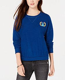 Freeze 24-7 Juniors' Cotton Lilo & Stitch Embroidered Sweatshirt