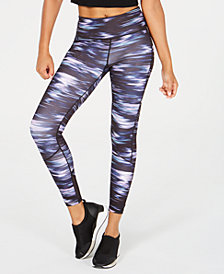 Ideology Printed High-Rise Mesh-Trimmed Leggings, Created for Macy's