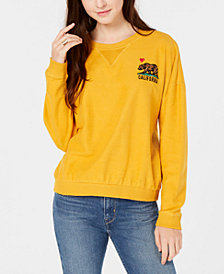Freeze 24-7 Juniors' Cotton California Embroidered Sweatshirt