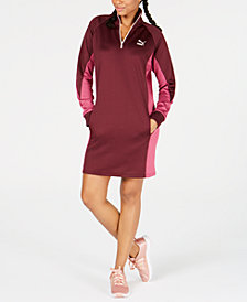 Puma Colorblocked Quarter-Zip Sweatshirt Dress