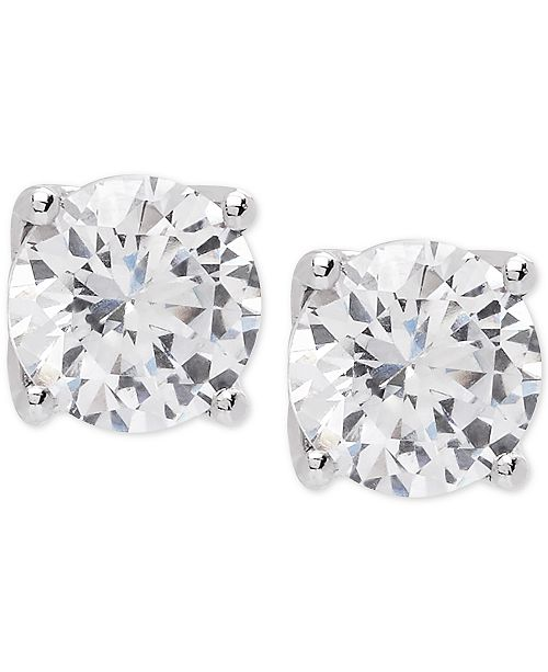 Lab Grown Diamond Stud Earrings 2 Ct T W In 14k Gold Or White