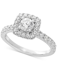 Lab Grown Diamond Halo Engagement Ring (1-1/4 ct. t.w.) in 14k White Gold