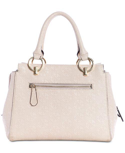 1fcede54a001 GUESS Heritage Pop Girlfriend Satchel - Handbags   Accessories - Macy s