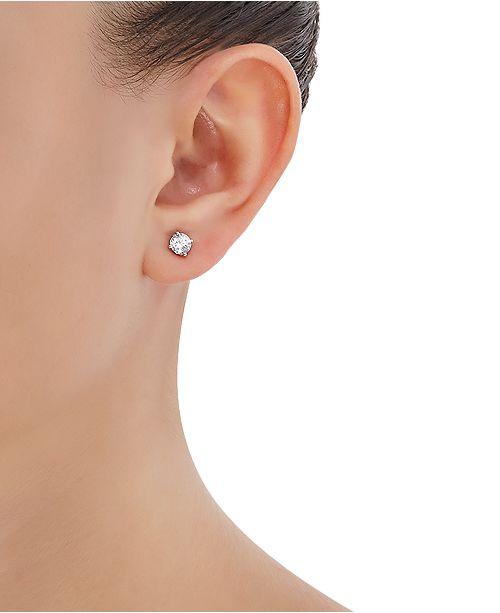 Lab Grown Diamond Stud Earrings 1 Ct T W In 14k Gold Or White