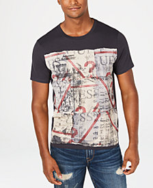 GUESS Men's Scrap Logo T-Shirt