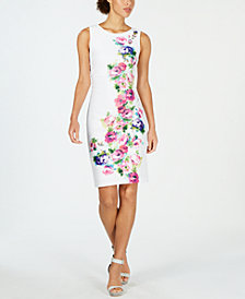 Calvin Klein Floral Printed Sheath Dress