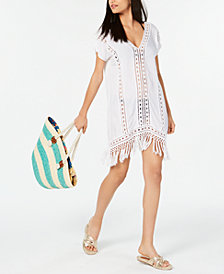 Raviya Crochet Fringe Cover-Up Dress