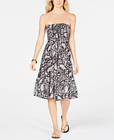 Raviya Printed Strapless Cover-Up Dress