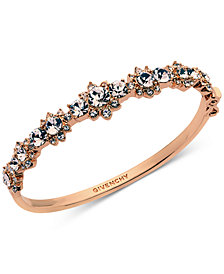 Givenchy Crystal Flower Bangle Bracelet