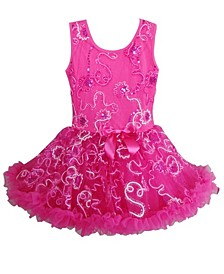 A Hot Pink Colored Ruffle Petti Dress For Your Little Girl