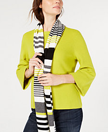 Eileen Fisher 3/4-Sleeve Flared Sweater