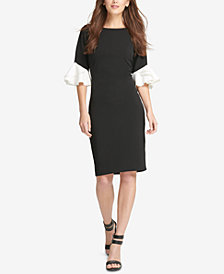 DKNY Ruffle-Cuff Sheath Dress, Created for Macy's