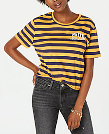 Rebellious One Juniors' Hello Sunshine Graphic-Print T-Shirt