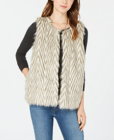 Say What? Juniors' Faux-Fur Vest
