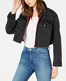 Tinseltown Oversized Cropped Denim Jacket