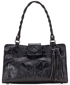 Patricia Nash Rienzo Laser Floral Leather Satchel