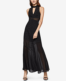 BCBGeneration Mock-Neck Seamed Maxi Dress