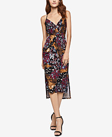 BCBGeneration Printed Midi Faux-Wrap Dress