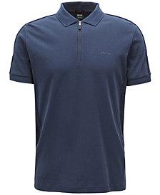 BOSS Men's Half-Zip Cotton Polo
