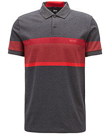 BOSS Men's Slim-Fit Colorblocked Cotton Polo