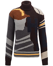 BOSS Men's Intarsia Graphic Sweater