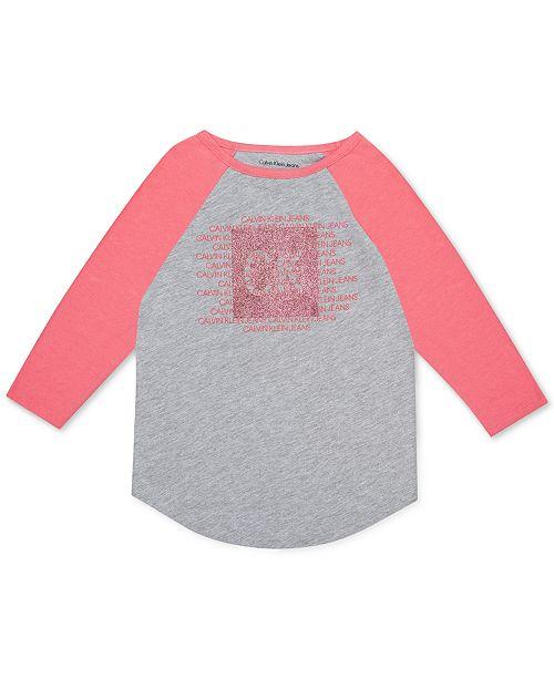 69ea1b94a Calvin Klein Big Girls Colorblocked Raglan T-Shirt & Reviews ...