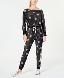 Material Girl Active Juniors' Off-The-Shoulder Jumpsuit, Created for Macy's