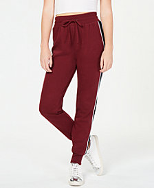 Material Girl Juniors' Side-Stripe Jogger Pants, Created for Macy's