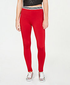 Material Girl Juniors' Varsity Stripe Leggings, Created for Macy's